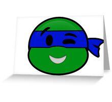 Emoji Leonardo - Wink Greeting Card