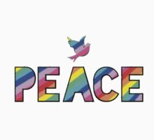 Dove and Peace with a Rainbow insert One Piece - Long Sleeve