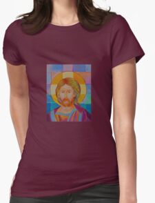 Jesus Christ Pantokrator. Made in Poland art. Christian icon original painting T-Shirt