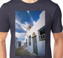 Traditional alleyway in Tinos Unisex T-Shirt