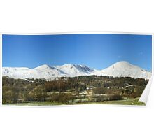 The Coniston Fells from Torver Poster
