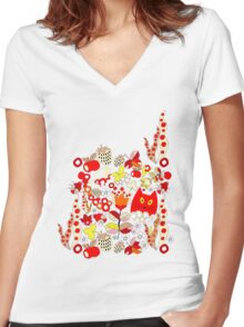 Pattern #14  Women's Fitted V-Neck T-Shirt