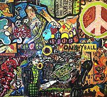 Monkey Ball Decopollage 2016 by Maureen Zaharie