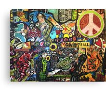 Monkey Ball Decopollage 2016 Canvas Print