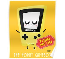 Horny Gameboy (yellow) Poster