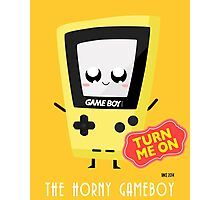 Horny Gameboy (yellow) Photographic Print