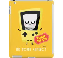 Horny Gameboy (yellow) iPad Case/Skin