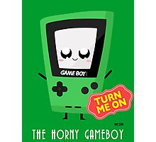 Horny Gameboy (green) Photographic Print