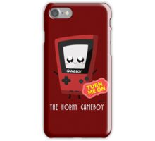 Horny Gameboy (red) iPhone Case/Skin