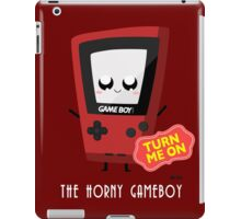 Horny Gameboy (red) iPad Case/Skin