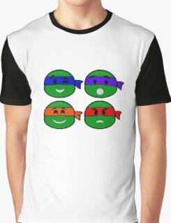 Emoji's TMNT v2 Graphic T-Shirt