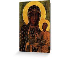 Virgin Mary Black Madonna of Czestochowa Greeting Card