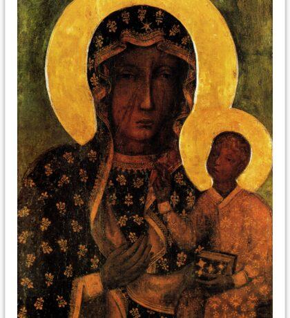 Black Madonna of Czestochowa Poland, Our Lady of Czestochowa, Madonna and Child, Virgin Mary Sticker