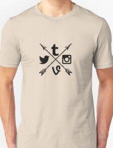 Social media arrows  T-Shirt
