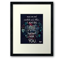 mean valentine Framed Print