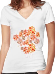 Pattern #16 Women's Fitted V-Neck T-Shirt