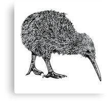 Kiwi BW Canvas Print