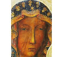 Black Madonna of Czestochowa famous icon paintining Photographic Print