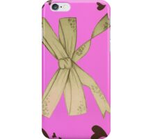 Valentines bow iPhone Case/Skin