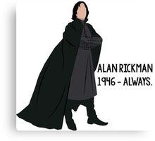 Snape - Tribute to Alan Rickman Canvas Print
