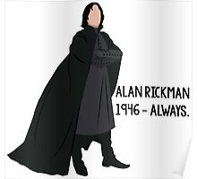 Snape - Tribute to Alan Rickman Poster
