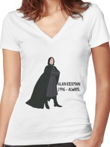 Snape - Tribute to Alan Rickman Women's Fitted V-Neck T-Shirt