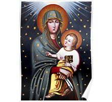 Our Lady of Fatima, Polish Madonna and Child, Virgin Mary, religious catholic icon Poster