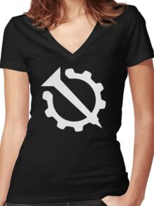 Hello Internet Official Flag (Nail and Gear) Women's Fitted V-Neck T-Shirt