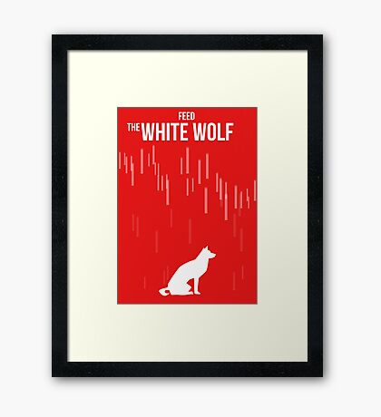 Feed the white wolf Framed Print