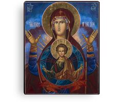 Our Lady Virgin Mary Theodokos with infant Jesus Canvas Print