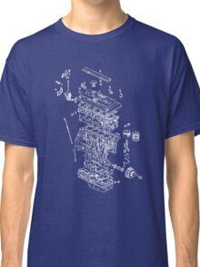 Honda B Series Engine Exploded Blueprint - White Classic T-Shirt