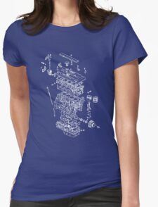 Honda B Series Engine Exploded Blueprint - White T-Shirt