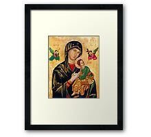 St. Mary of Perpetual Help Parish Russian orthodox icon Framed Print