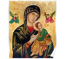 Our Lady of Perpetual Help, Russian orthodox icon, Madonna and Child, Virgin Mary  Poster