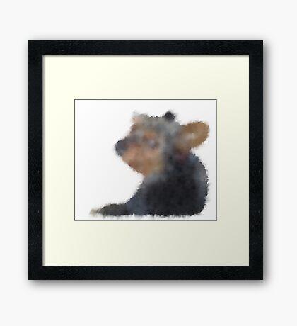 Blurry Bill the Dog Framed Print