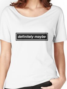 "Oasis Logo Inspired ""Definitely Maybe"" Women's Relaxed Fit T-Shirt"