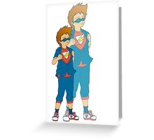Little Cuties: Dreams of being a Superhero (Boy Version) Greeting Card