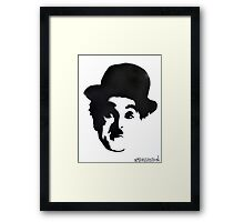 Charlie Chaplin Spray Paint Portrait Framed Print