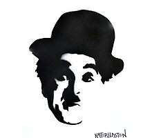 Charlie Chaplin Spray Paint Portrait Photographic Print
