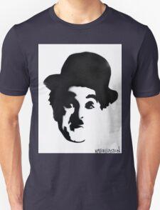 Charlie Chaplin Spray Paint Portrait Unisex T-Shirt