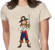 Pirate girl Womens Fitted T-Shirt