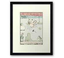 Was all a stage play Framed Print