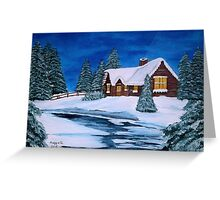 Winter landscape-1 Greeting Card