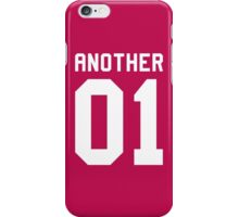 Another 01 (white font) iPhone Case/Skin
