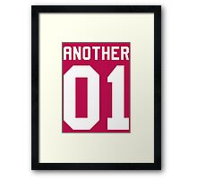 Another 01 (white font) Framed Print