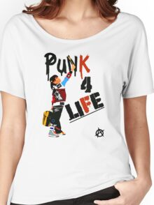 "Punky ""Punk 4 Life"" Brewster Women's Relaxed Fit T-Shirt"