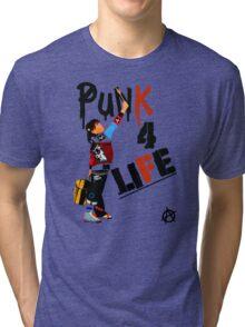 "Punky ""Punk 4 Life"" Brewster Tri-blend T-Shirt"