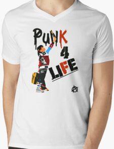 "Punky ""Punk 4 Life"" Brewster Mens V-Neck T-Shirt"