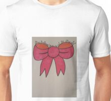Pretty pink bow with quote Unisex T-Shirt