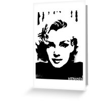 Marilyn Monroe Spray Paint Portrait  Greeting Card
